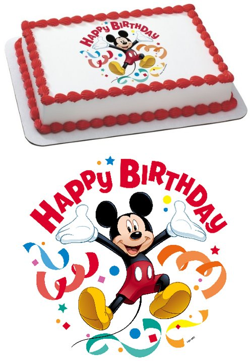 Mickey Mouse Clubhouse Streamers Edible Cake Topper Decoration