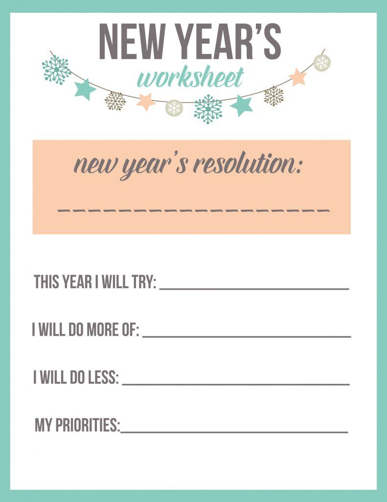 New Year S Resolution Worksheet Printable The Best Ideas For Kids New Years Resolution New Years Resolution Kids New Year S Eve Activities
