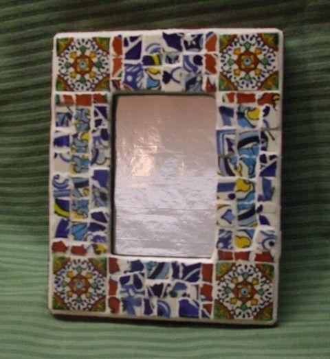 mexican talavera tile mosaic mirror