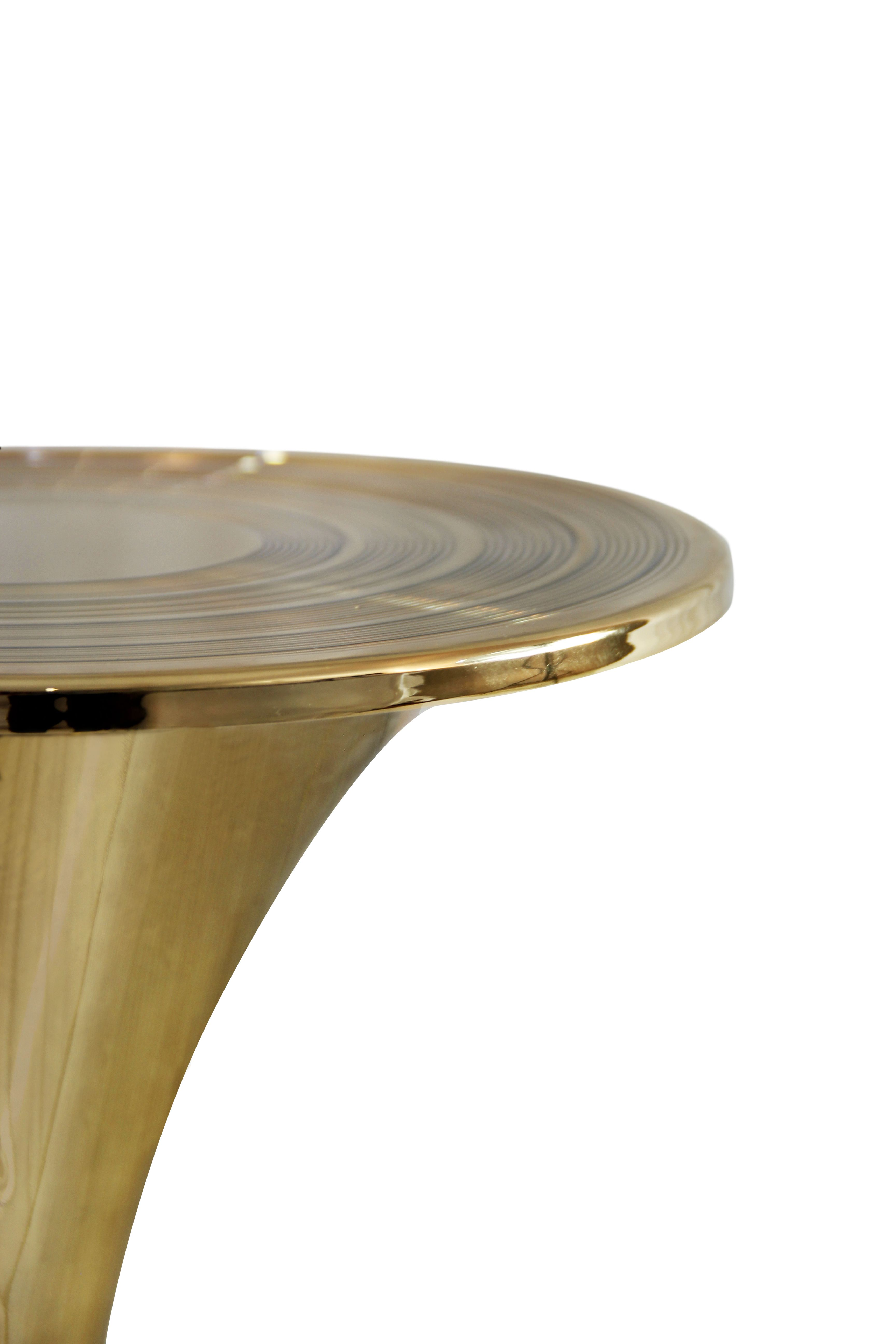 Sleek And Lean Botti Side Table Is A True Midcentury Modern Piece Lots Of Gold