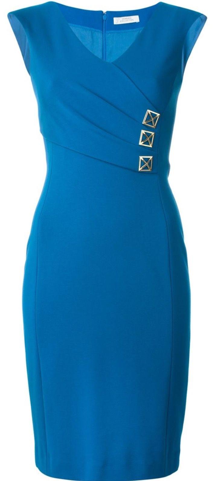 8676f9027 Versace Fitted V-Neck Dress | Moda para gorditas | Vestidos ...
