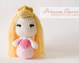 Amigurumis Personajes De Disney : Princess aurora amigurumi doll inspired by disney s sleeping