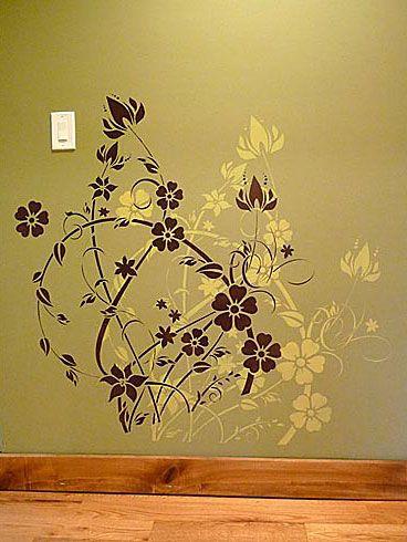 Floral Filigree Wall Stencil See more Wall Art Stencils: http://www ...