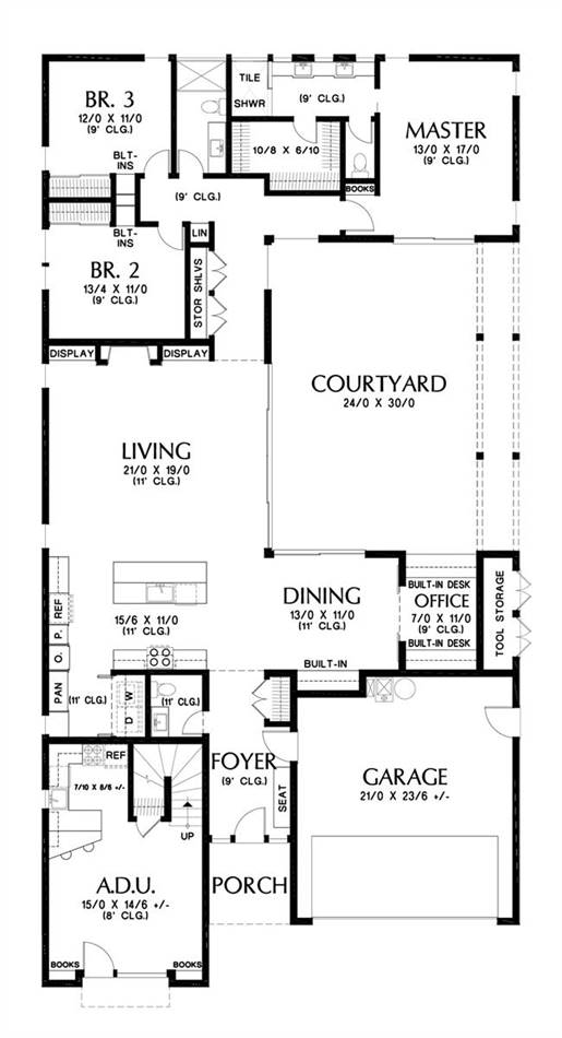 Contemporary Style House Plan 7243: Lakeshore (2020 ...