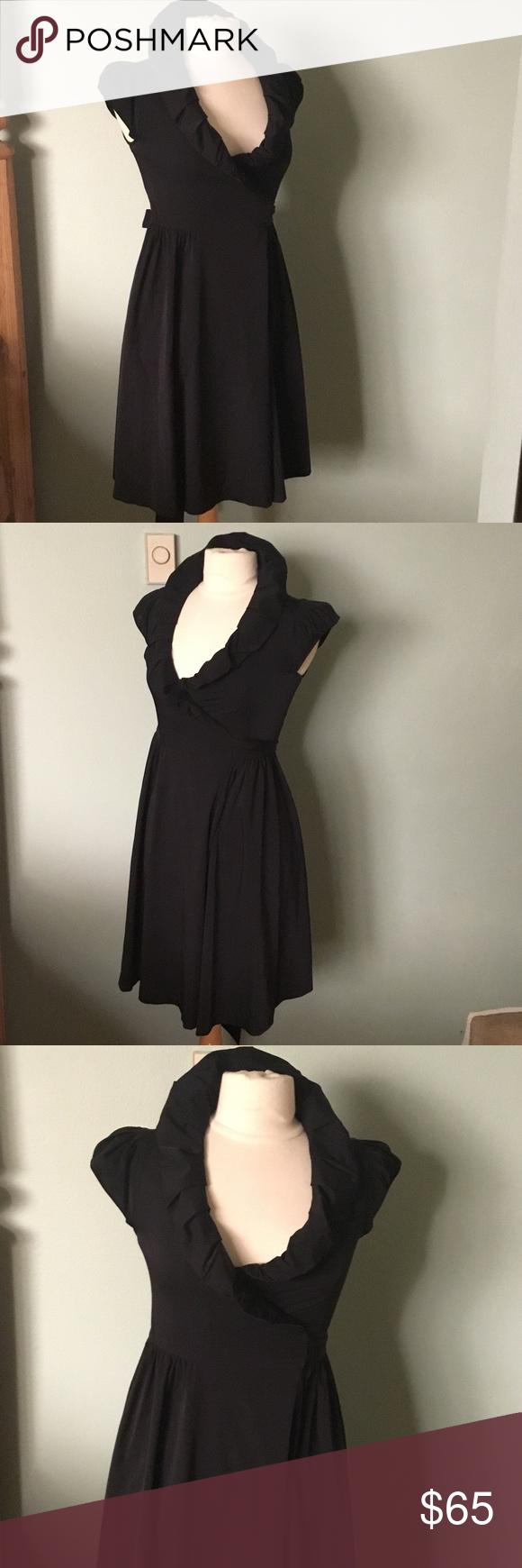 Diane von furstenberg black wrap dress size great dress by diane