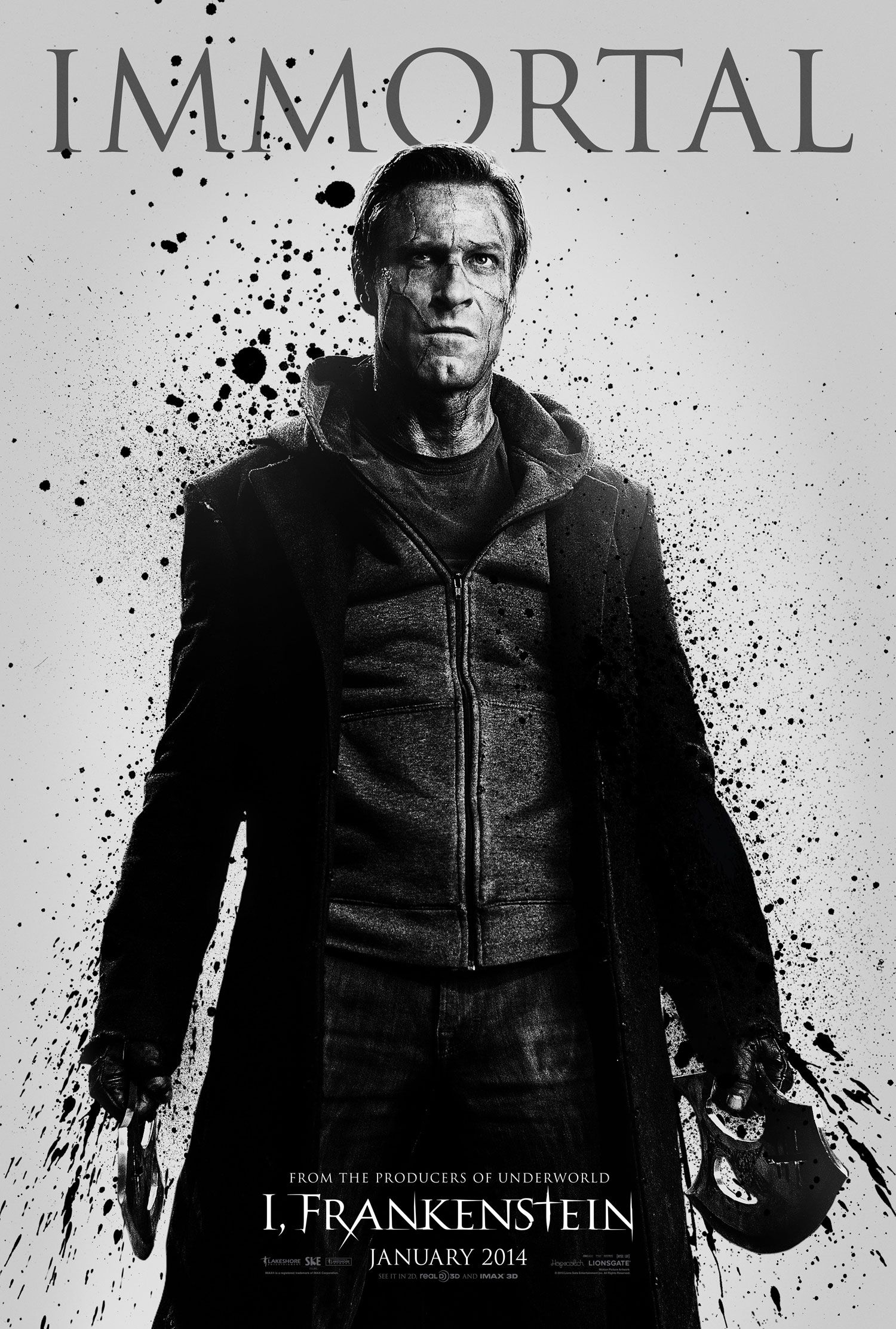I, Frankenstein , starring Aaron Eckhart, Bill Nighy