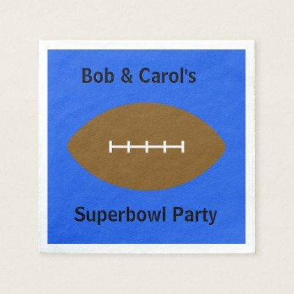 Personalized Blue Cocktail Superbowl Napkins
