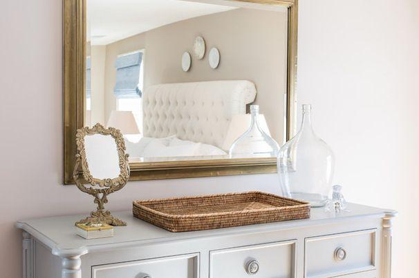 dresser top | Transitional style living room, Bedroom ...