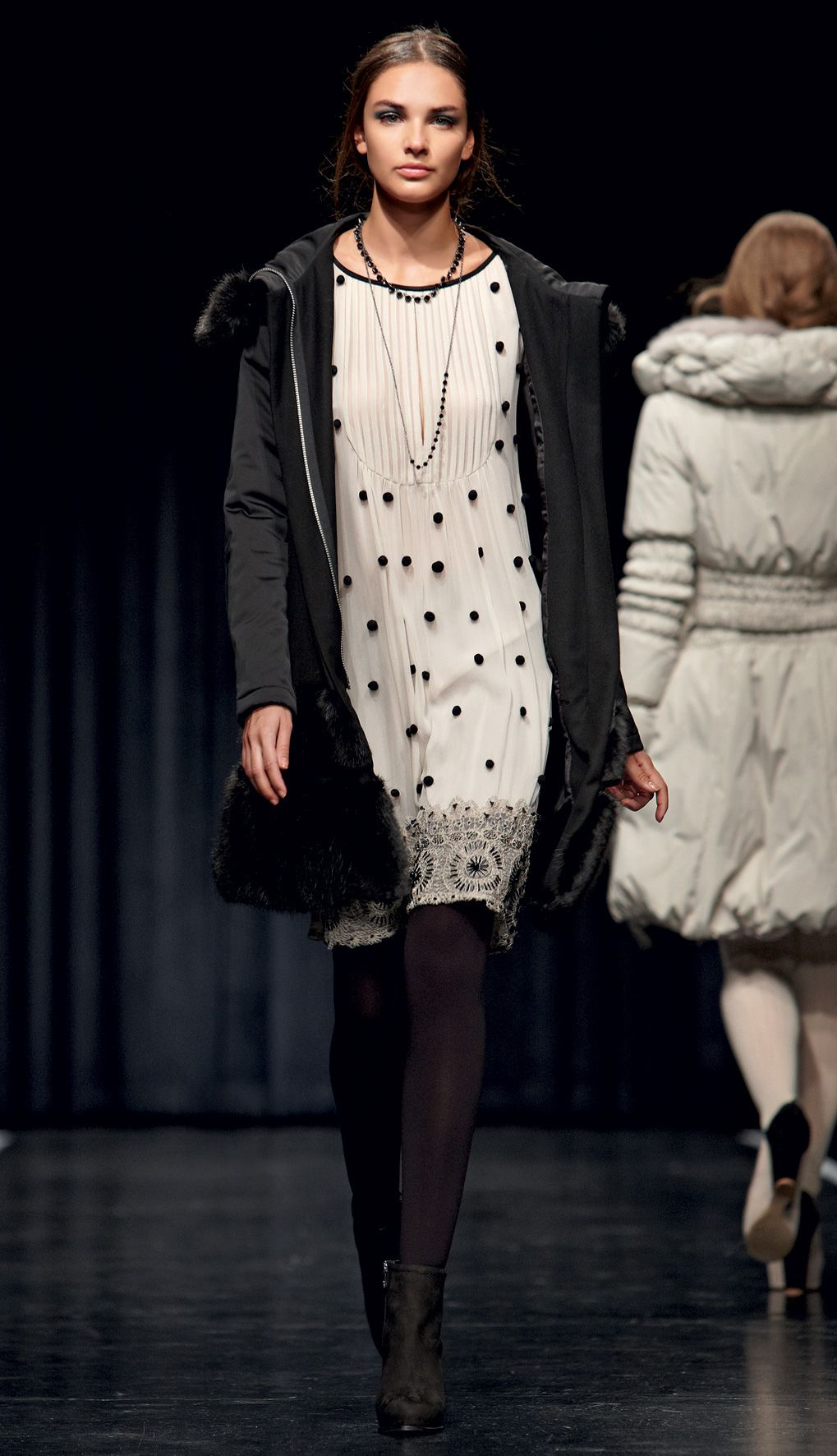 e4dc34f79bf0 TWIN-SET Simona Barbieri - dress with pompom and padded jacket ...