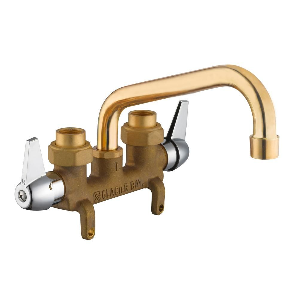 Glacier Bay 2 Handle Laundry Faucet In Rough Brass Laundry Tubs