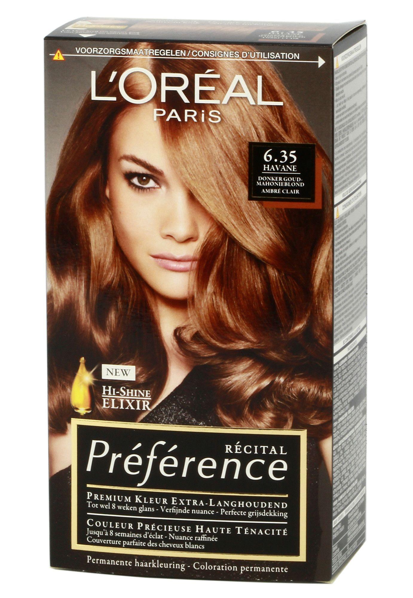 Loreal Préférence 6 35 Havane Dark Gold Mahogany Blonde Haarfarben