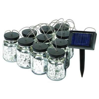 Malibu Black Solar Mason Jar String Light-8517-5503-10 - The Home