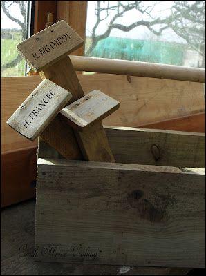 Scrap Wood Garden Row Or Flower Labels