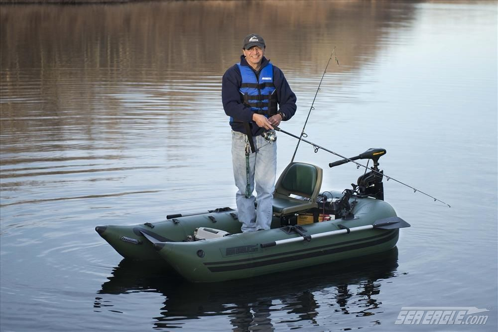 Frameless Pontoon Boat Inflatable For One Person Fishing