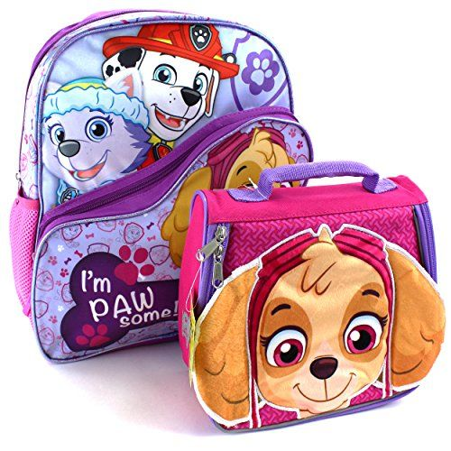 Girls Paw Patrol Backpack Skye School Lunch Book Bag Kids Nursery Rucksack