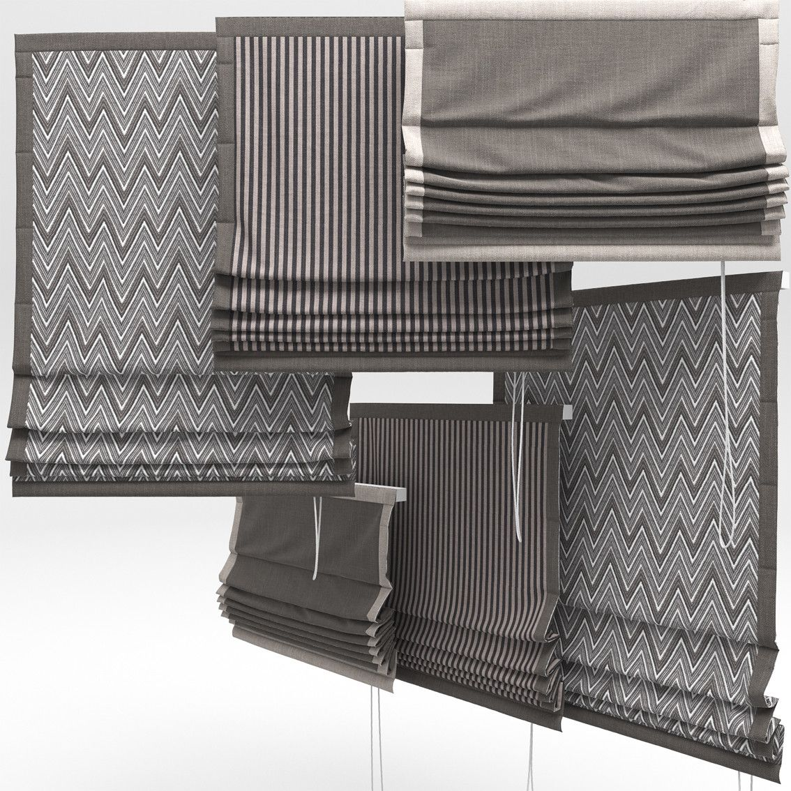 Roman Blinds 3d 3ds 311 Study In 2019 Roman Curtains
