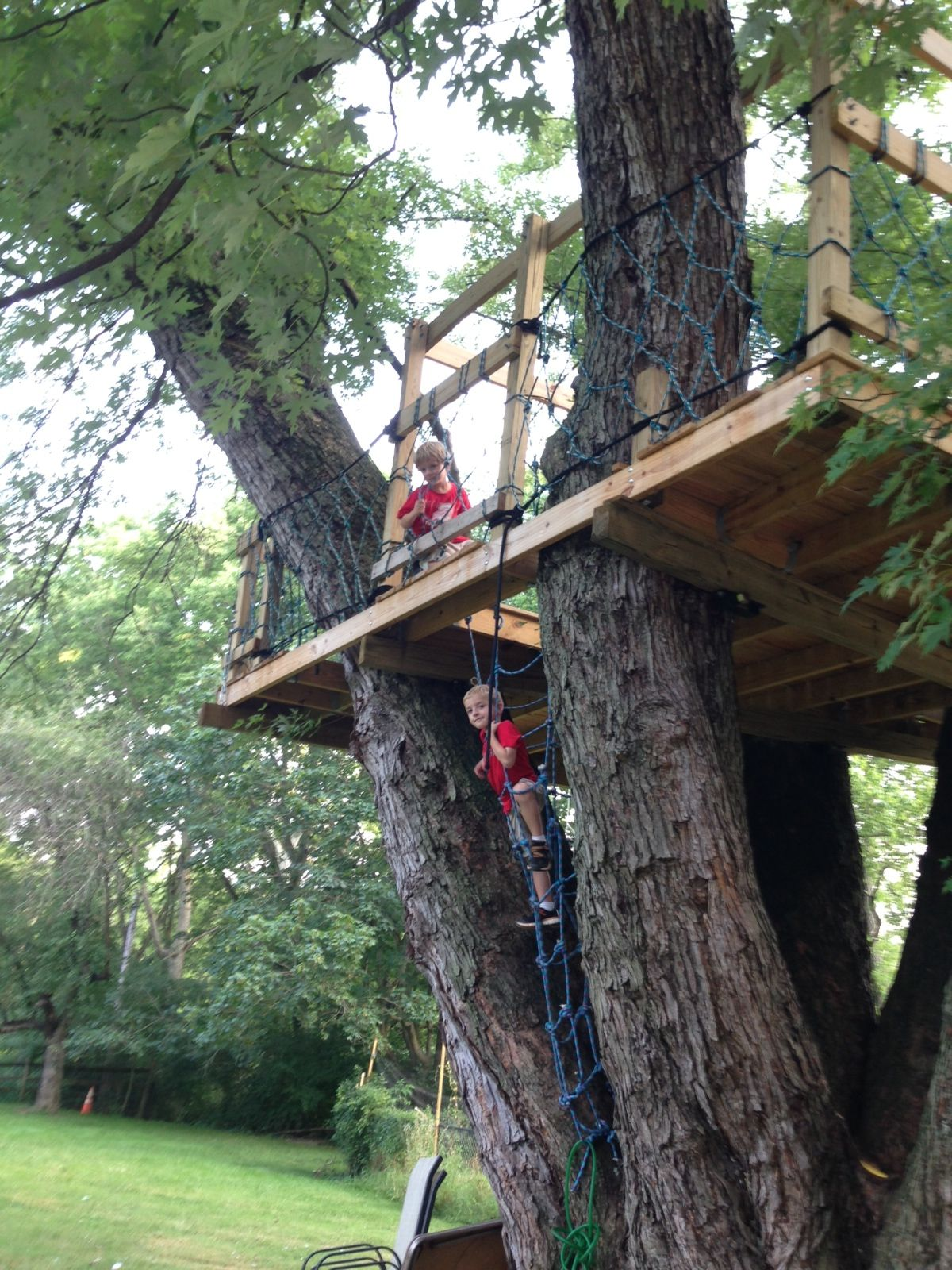 Camping In The Boys Tree House