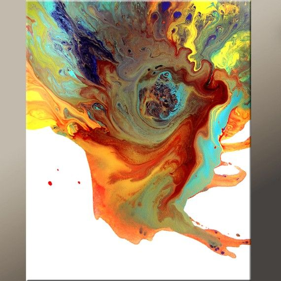 20 Rainbow Colored Abstract Art  Print  Modern by wostudios, $39.00