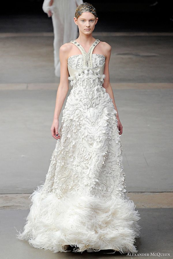 c60bb956176 Alexander McQueen. After seeing this seriously fashion-forward bridal gown