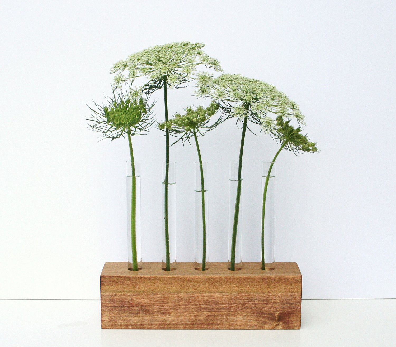 Bud vases test tube flower vase 5holes brown by lynettesart flower bud vases test tube reviewsmspy