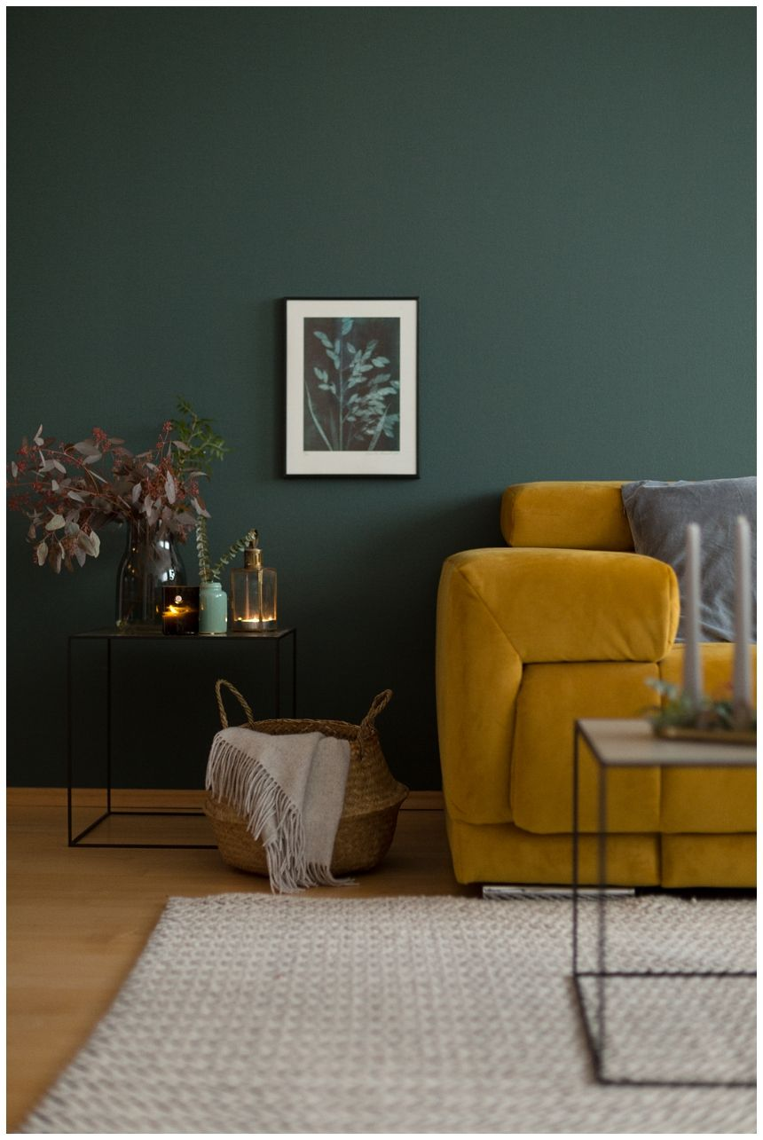 interior trends 2018 moody greenery wiener wohnsinn interior blog living wandfarbe. Black Bedroom Furniture Sets. Home Design Ideas
