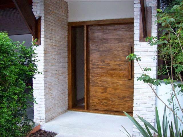 Portas de entrada veja 15 modelos modernos e - Entradas casas modernas ...