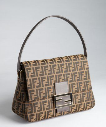 ce1620f44b7 ... spain fendi tobacco and light brown zucca canvas shoulder bag shopstyle  hobos f2939 5fa64 ...