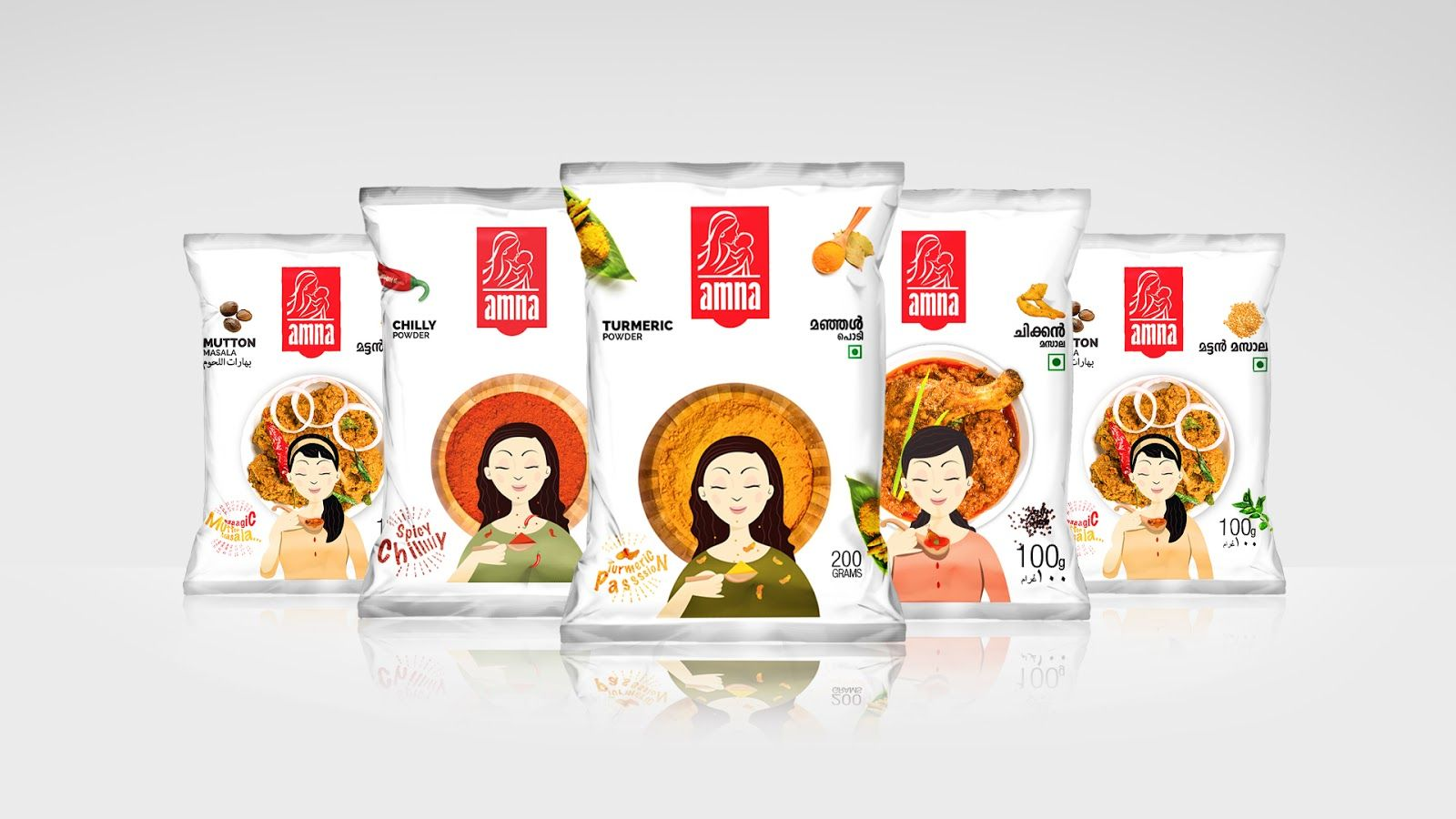 Amna Spice Mix Package Design Creative Package Design And Art - Cuisines design industries