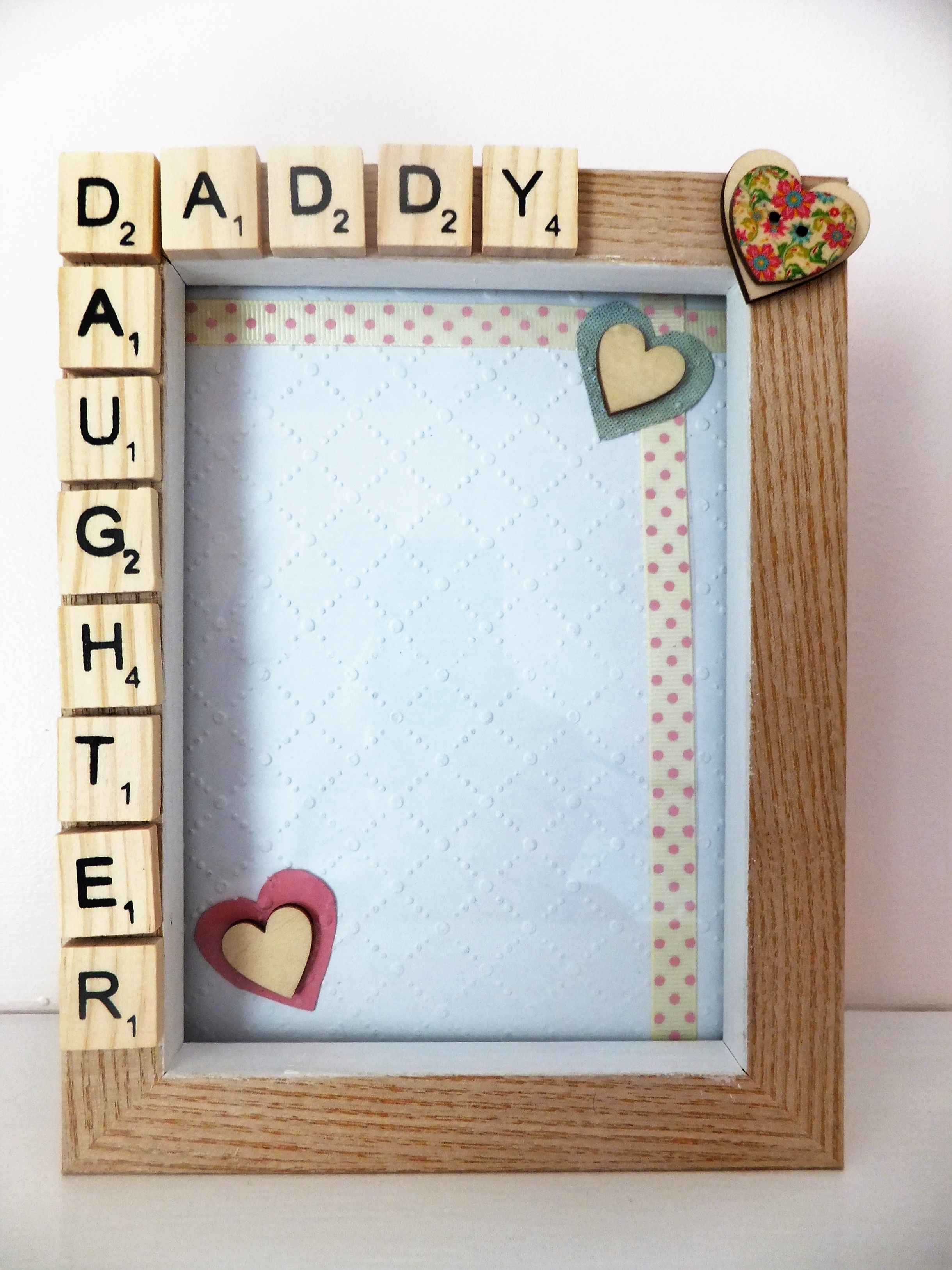 Father and daughter frame fathers day from dreamydelight