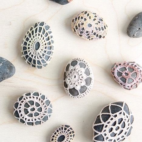 """Anne Weil / Maker on Instagram: """"Another of my favorite summer projects. I link to my @creativebug class on how to make these in the post! I even picked up a stone on my…"""""""