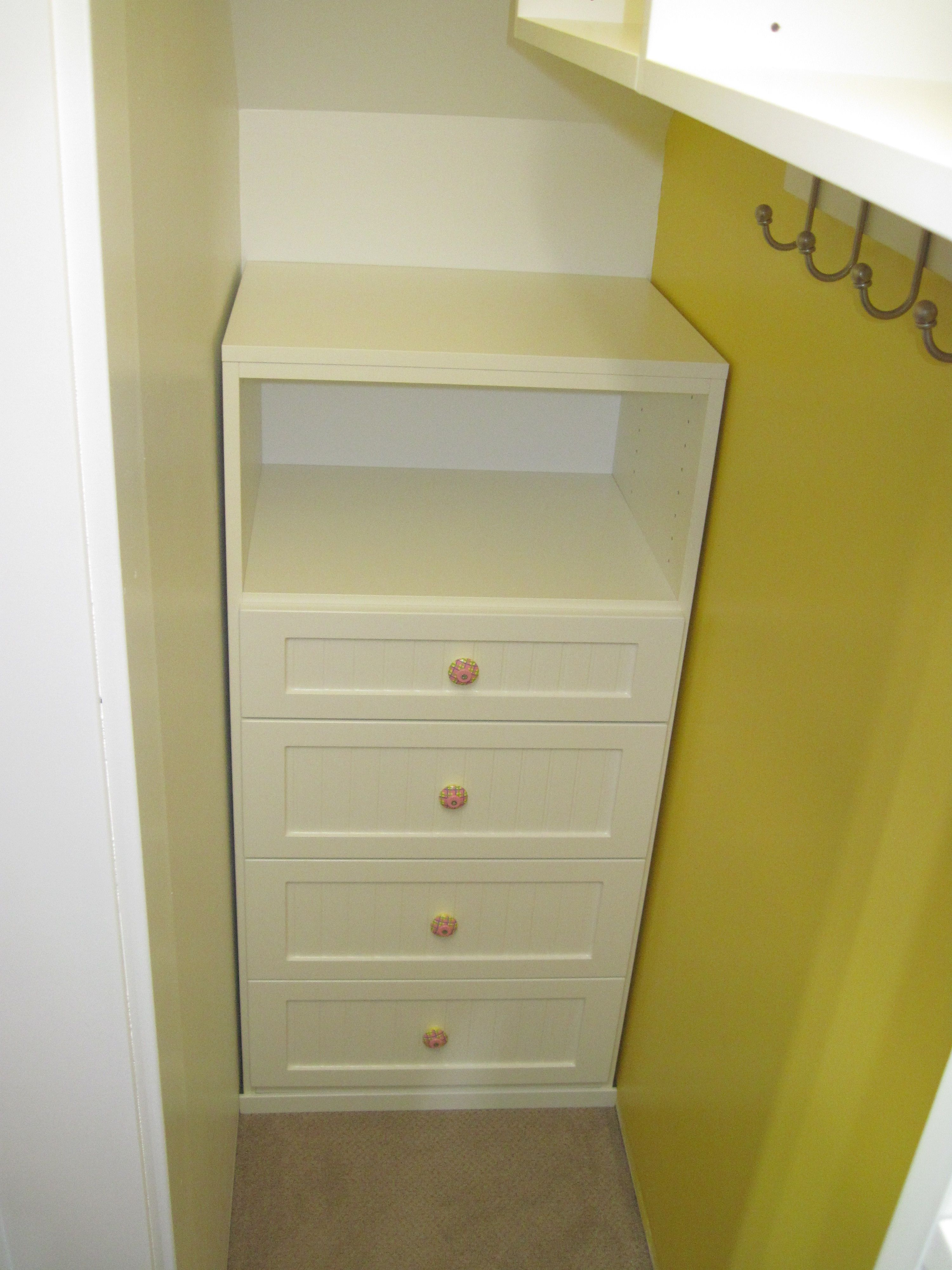Closet | California Closets Yellow Kids Closet Drawers