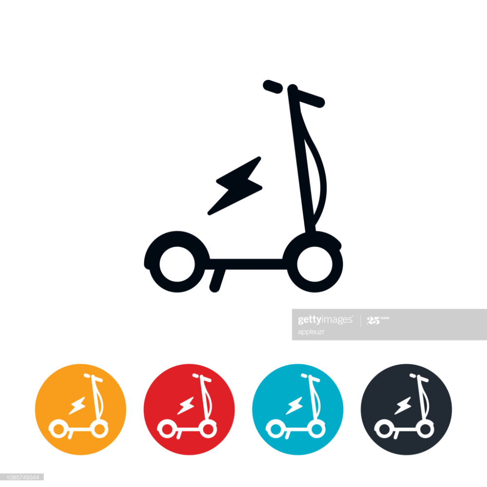 an icon of an electric scooter the icons have editable strokes lines in 2020 free vector art icon electric scooter pinterest