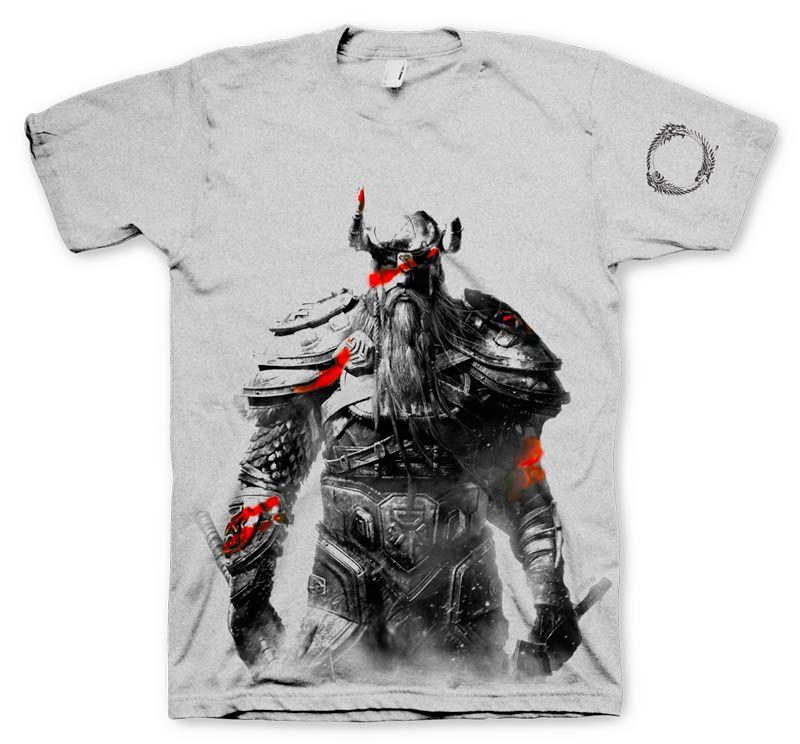 Camiseta Nord. The Elder Scrolls V: Skyrim Original camiseta con el diseño de la estupenda imagen de un Nord, los cuales se les conoce como los primeros seres que poblaron el continente, uno de los protagonistas que podemos ver en el exitoso videojuego de rol The Elder Scrolls V: Skyrim.