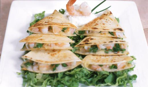 Shrimp Quesadillas #freshfromflorida @Delita Florida Agriculture #shrimp @Matty Chuah Food Channel .com #quesadillas #recipe