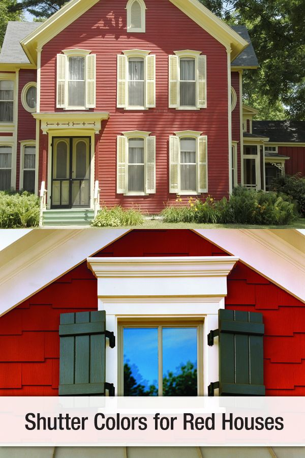 Shutter Colors For Red Houses   Red house exterior ...