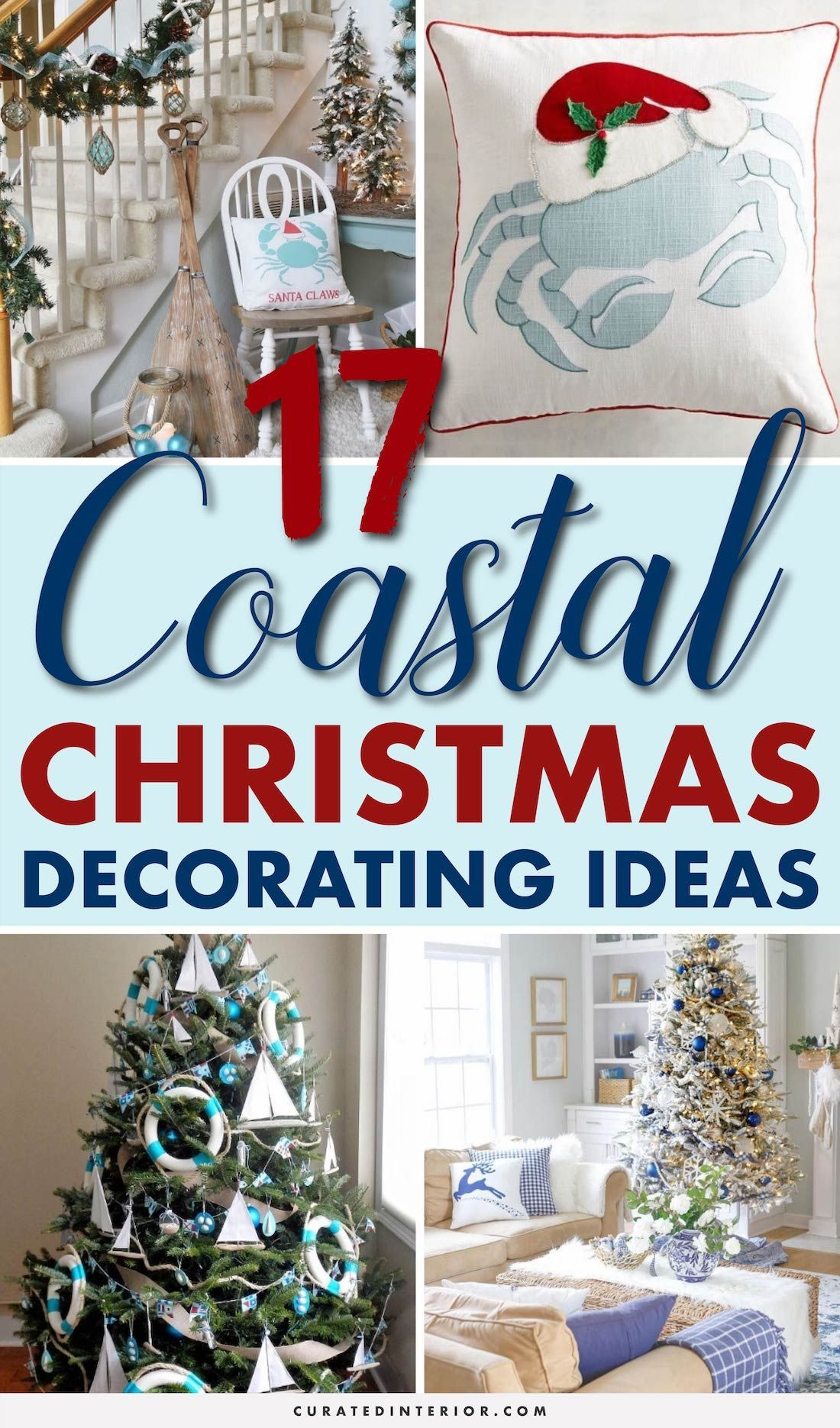 17 Coastal Christmas Decorating Ideas Coastaldecor Christmasdecor Coastalchristmas