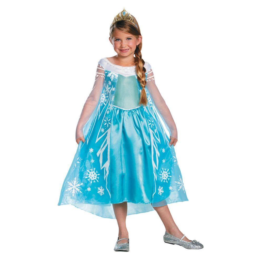 Elsa Halloween Costumes For Kids.Toddler Girl S Deluxe Disney S Frozen Elsa Costume 3t 4t Oriental Trading In 2021 Frozen Elsa Dress Elsa Halloween Costume Frozen Costume