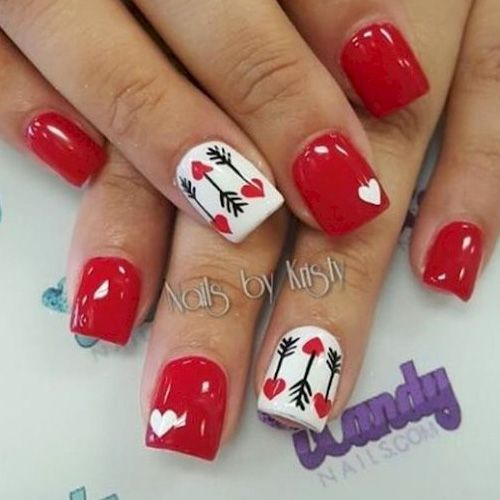 17 Red Hot Valentine S Day Nails For 2018 Nail Art Hq Nailart