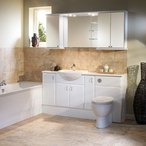 Capella White Fitted Bathroom Furniture Roper Rhodes
