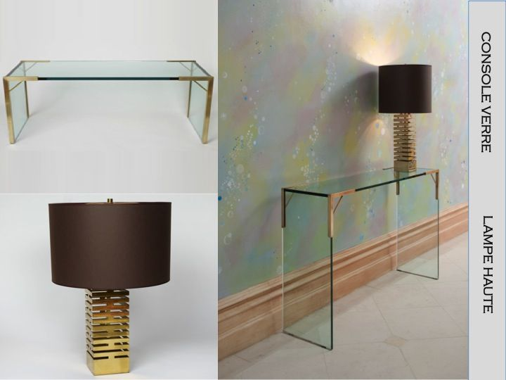 Console Verre And Lampe Haute By Victoria Stainow Www