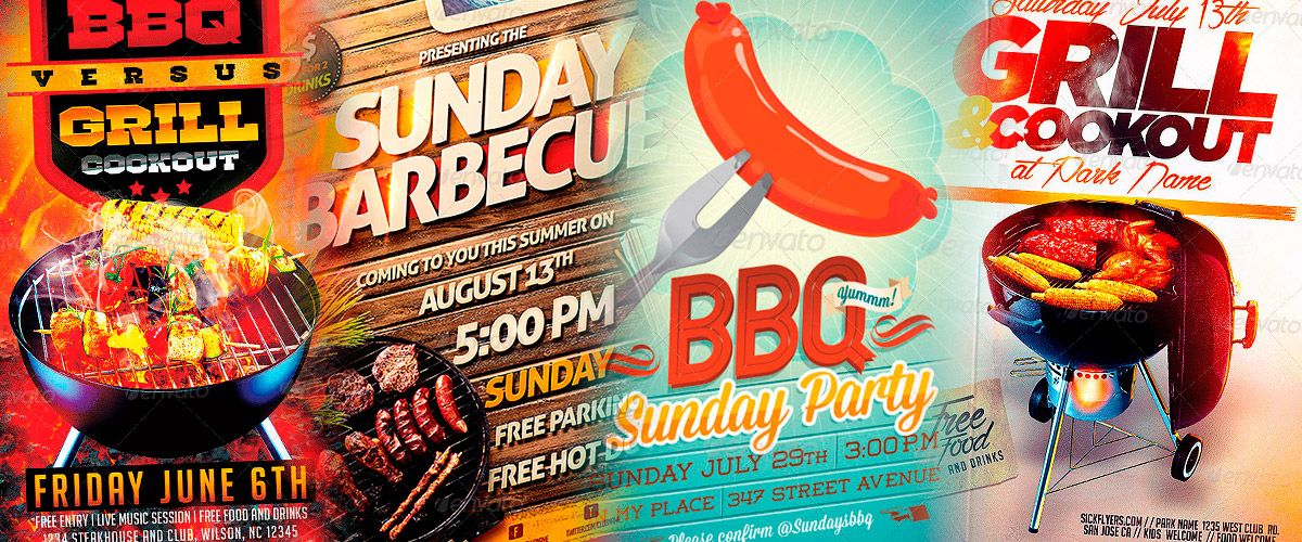Top  Best Bbq Barbecue Party Flyer Templates HttpWww