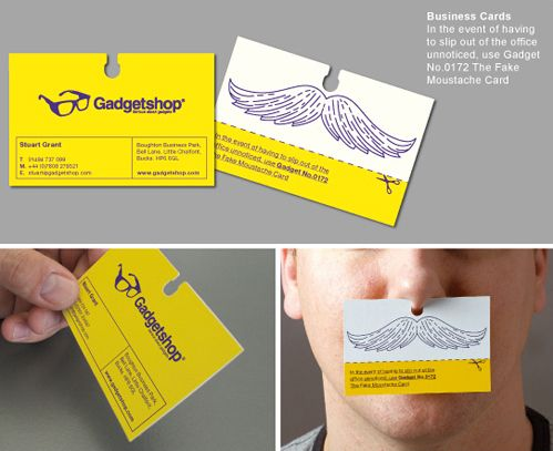 Mustache Business Card Business Cards Creative Business Card Inspiration Innovative Business Cards