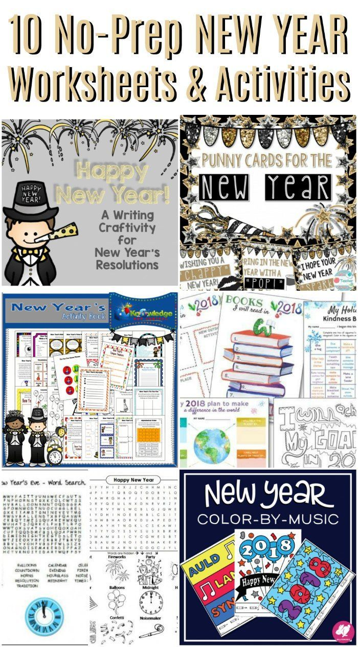 No-Prep New Years Worksheets and Activities   Worksheets, Activities ...