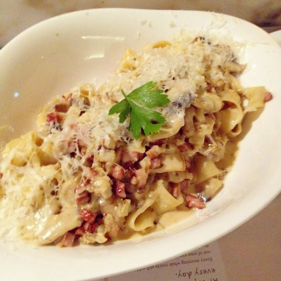 Wonderbaarlijk Vapiano (CBD): Tagliatelle Carbonara [8/10]. | Food, Carbonara CH-66