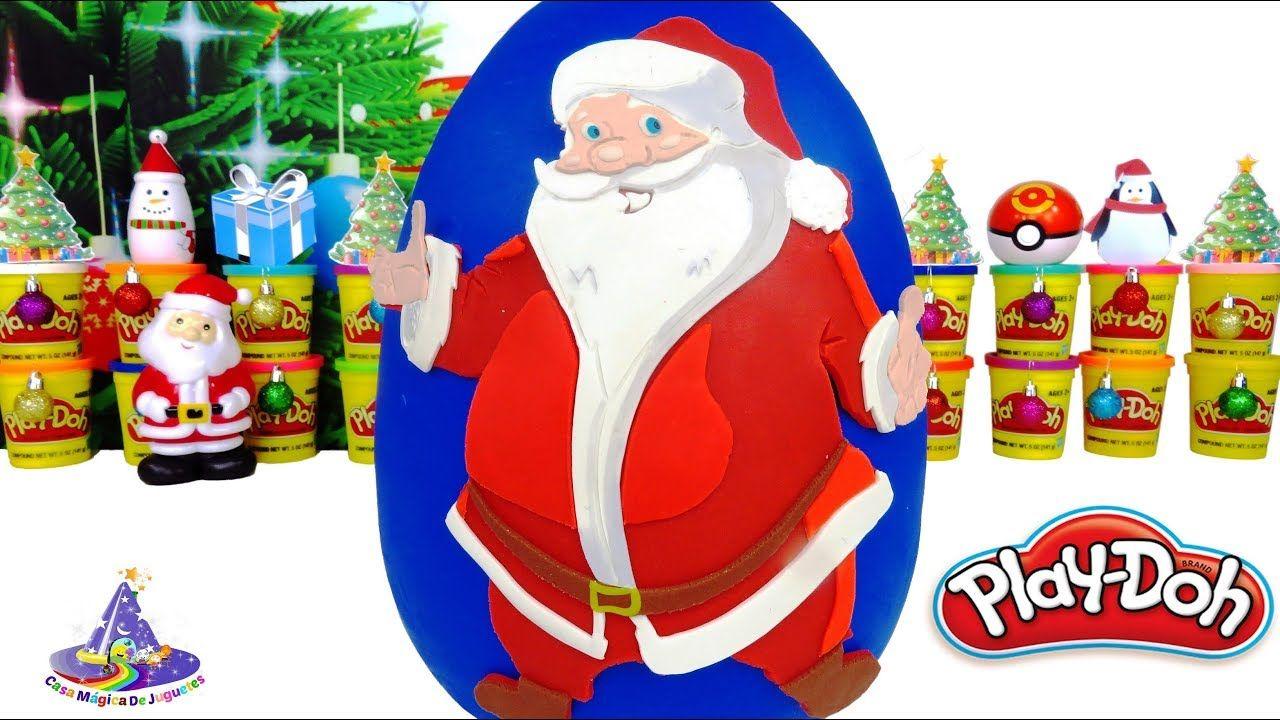 Huevo Sorpresa Gigante De Santa Claus O Papa Noel De Plastilina