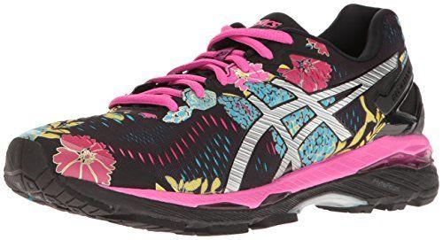 big sale 9d935 67426 ASICS Women's Gel-Kayano 23 Running Shoe, Black/Silver/Pink ...