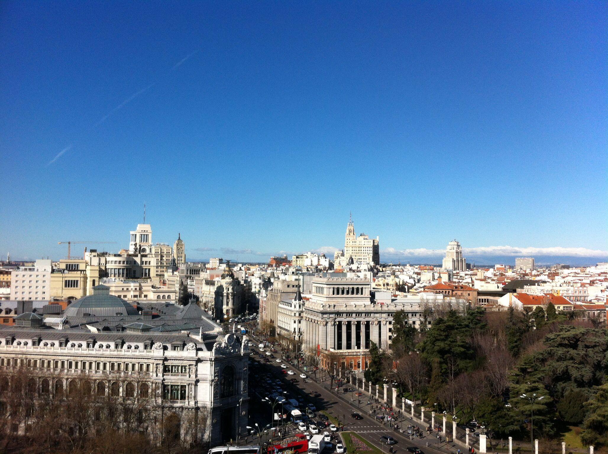 Vistas desde el mirador del Ayuntamiento de Madrid.