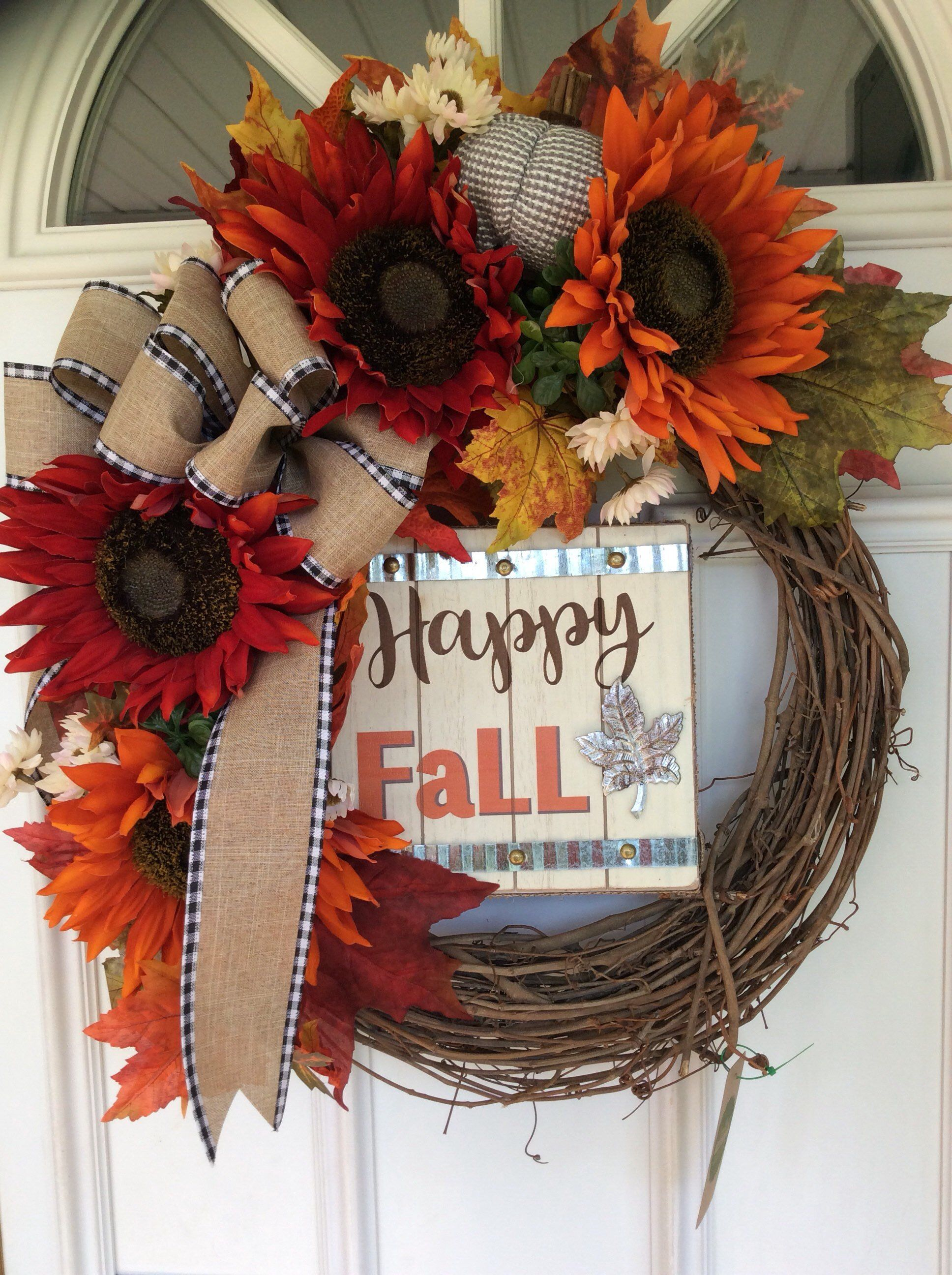 Excited To Share This Item From My Etsy Shop Happy Fall Wreath