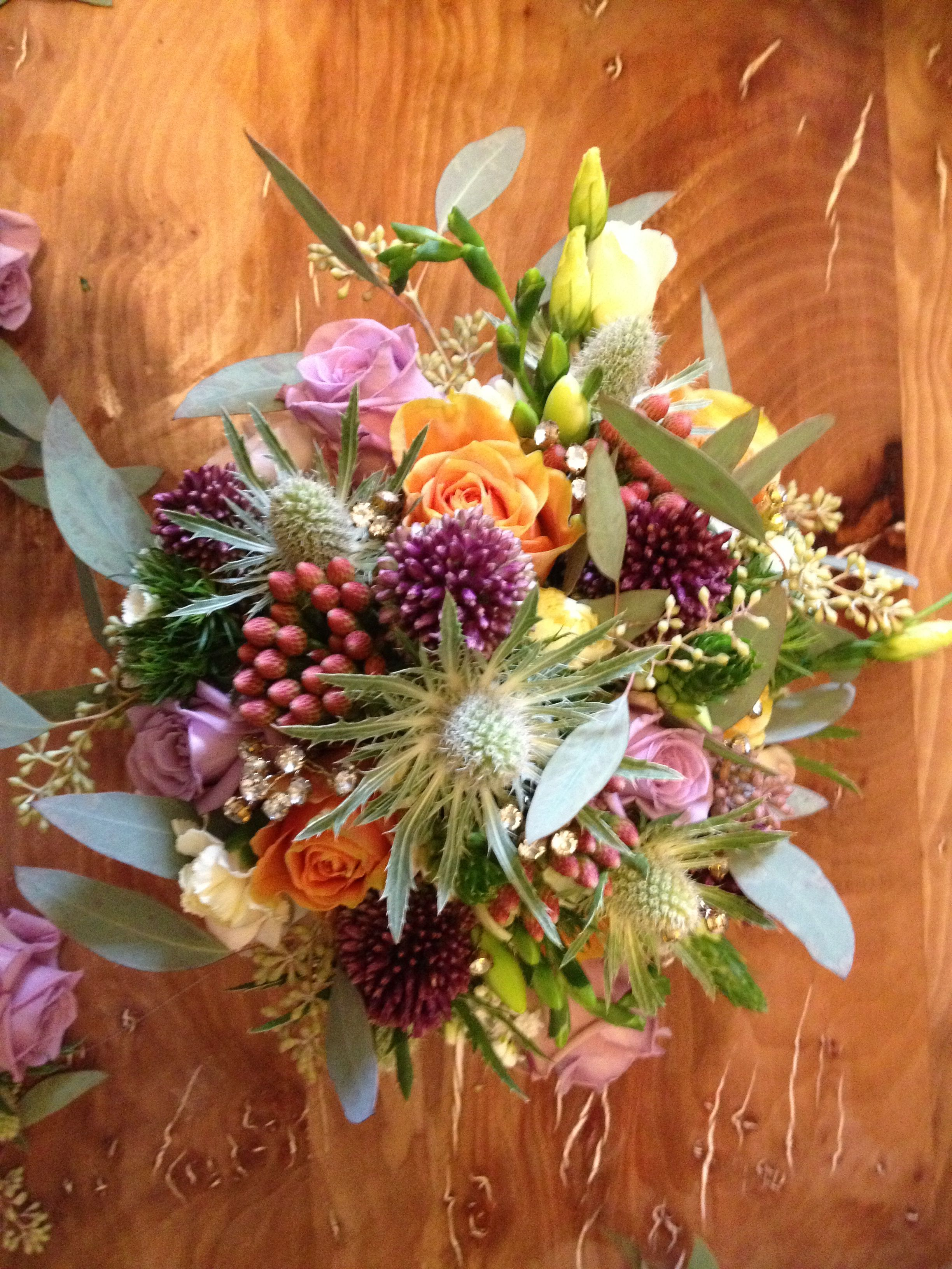 Bridal bouquet we wanted to achieve an informal