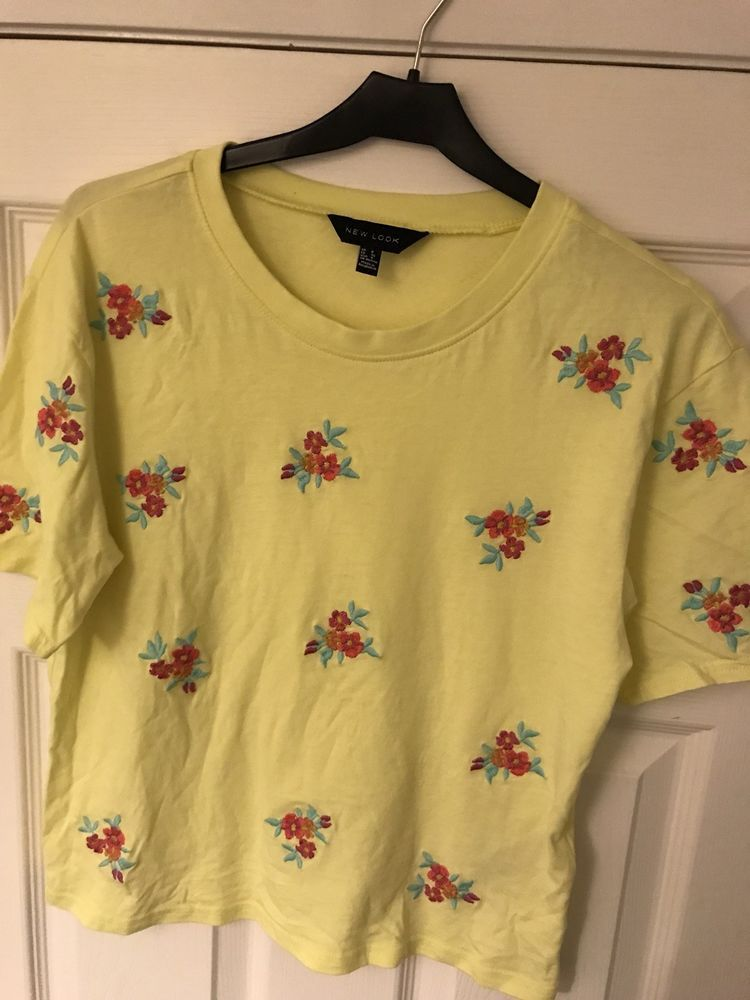 3a4f16a7442 Ladies Floral Embroided Top Lemon Size 8 XS New look Womens Ladies Tee  #fashion #clothing #shoes #accessories #womensclothing #tops (ebay link)